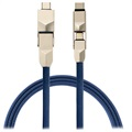 4smarts ComboCord Cable 6 en 1 - Lightning, MicroUSB, Type-C - Azul