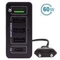 4smarts VoltPlug Smartphone & Laptop Fast Charging Station - 60W