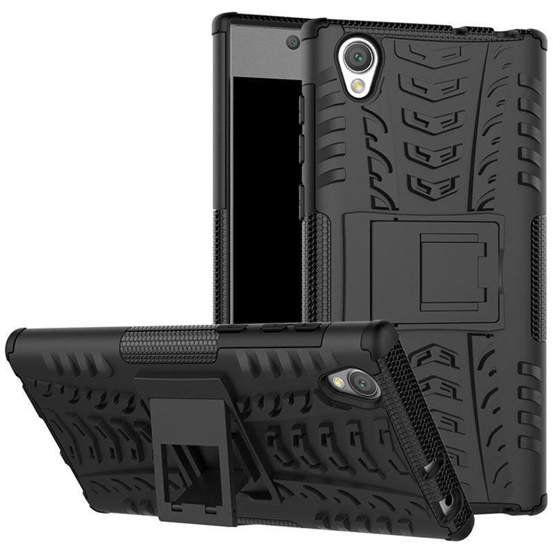 Carcasa Antideslizante Híbrida para Sony Xperia L1 - Negro