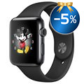 Apple Watch 2 MP4A2ZD/A - Carcasa de Acero Inoxidable - Band Deportiva - 42mm - Gris Espacial