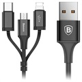 Cable USB 3-en-1 USB Cable - Lightning, Tipo-C, MicroUSB