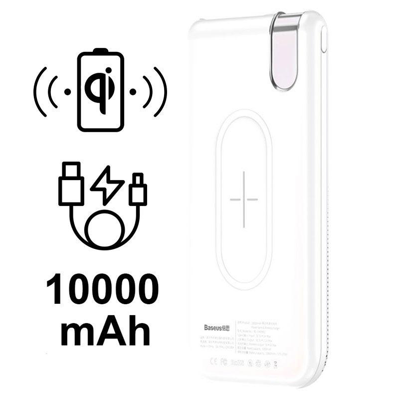 cargador inal u00e1mbrico qi    bater u00eda externa baseus thin