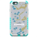 Beyond Cell Tri Shield Hybrid Funda para iPhone 6 / 6S - Flores Azul