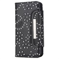 Funda Desmontable Bling Series para iPhone X - Estilo Cartera - Negro