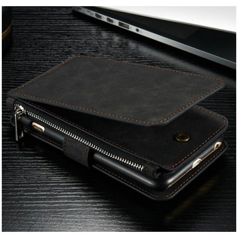Funda Multifuncional Caseme para iPhone 6 Plus / 6S Plus - Estilo Cartera