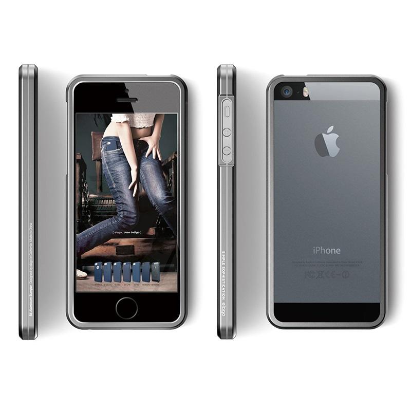 bumper de aluminio elago s5 para iphone 5 5s se gris oscuro. Black Bedroom Furniture Sets. Home Design Ideas