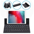 Foldable Bluetooth Keyboard and Desktop Holder - Black