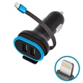 Cargador de Coche USB Tipo-C con Cable Lightning Ksix Power Delivery - 18W