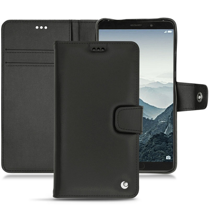 Huawei mate 10 noreve tradition b wallet leather case black for Housse huawei mate 10 pro
