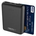 Power Bank / Batería Externa Ksix Mini 10000mAh - 2xUSB - Negro