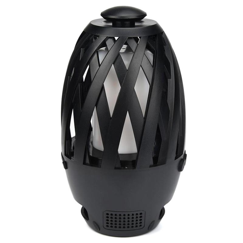 LED Flame Atmosphere Bluetooth Speaker BTS-596 - Black