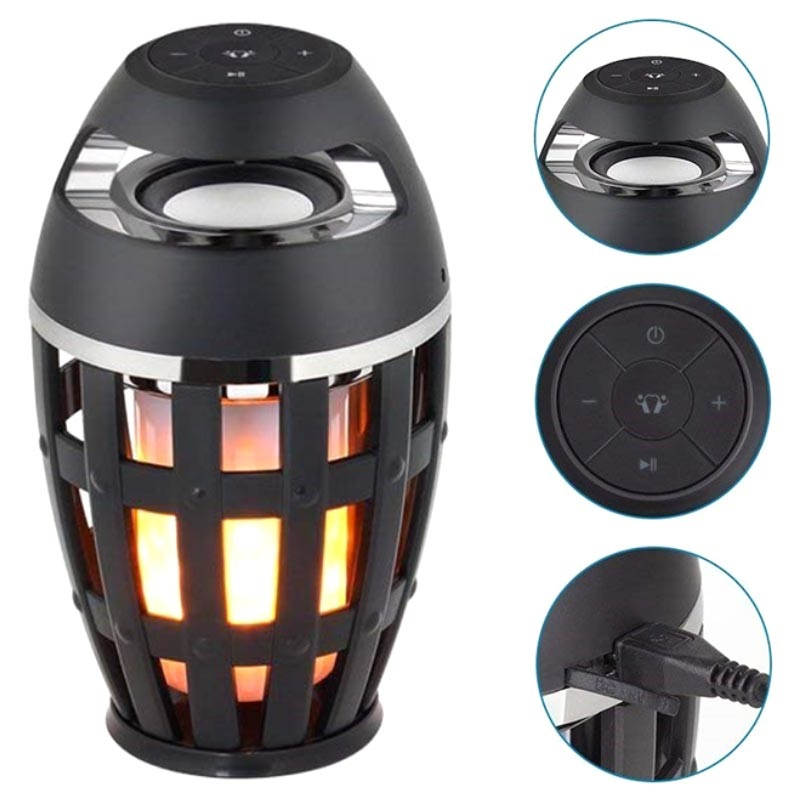 LED Flame Atmosphere Altavoz Bluetooth S1 - Negro
