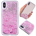 iPhone X Liquid Glitter Mirror TPU Case - Pink