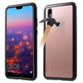 Huawei P20 Pro Magnetic Case with Tempered Glass Back - Black