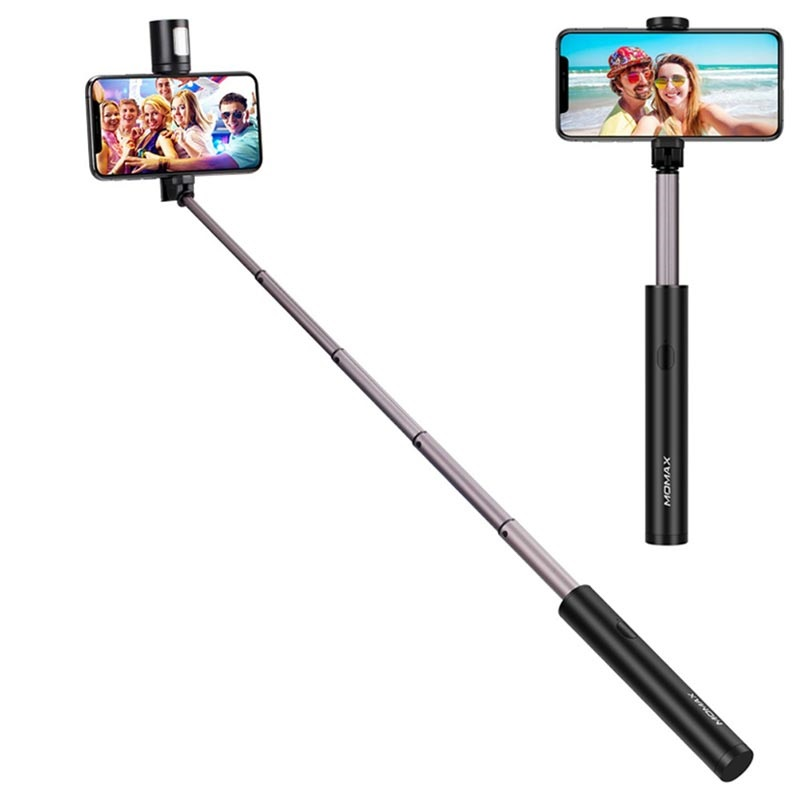 Momax KM12 Bluetooth Selfie Stick with LED Light