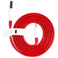 Cable USB Tipo-C OnePlus - Rojo / Blanco