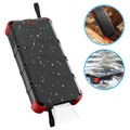 Batería Externa Outxe Savage 20000mAh Quick Charge Rugged - Negro / Rojo