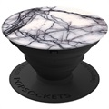 PopSockets Expanding Stand & Grip - Plastic - White Marble