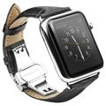 Correa de Cuero Qialino para Apple Watch - 42mm - Negro