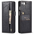Funda Saii Retro Multi-Slot para iPhone 7 Plus / iPhone 8 Plus - Estilo Cartera - Negro