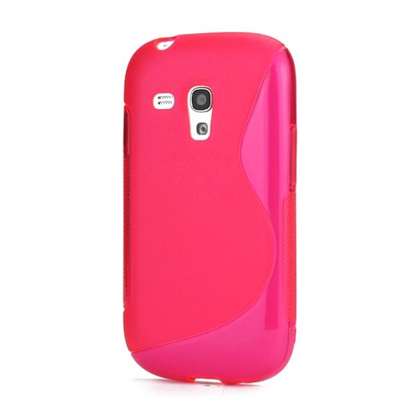 S curve tpu funda para samsung galaxy s3 mini i8190 rosa fuerte - Samsung s3 mini fundas ...
