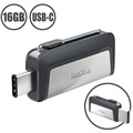 Unidad Flash USB Type-C SanDisk Ultra Dual Drive SDDDC2-016G-G46 - 16GB