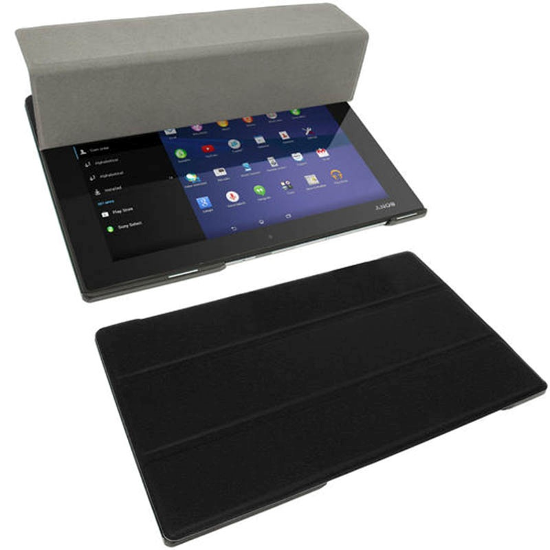Igadgitz funda de cuero para sony xperia z2 tablet lte z2 tablet wi fi negro - Funda xperia z tablet ...