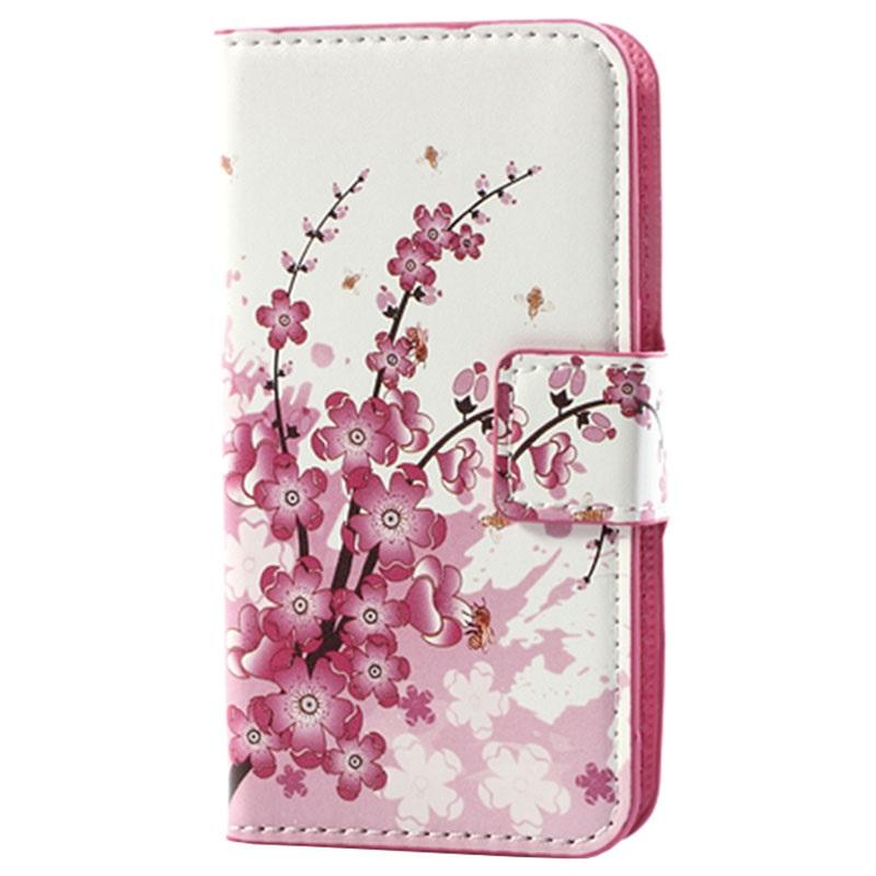 Funda elegante para samsung galaxy s3 mini i8190 estilo cartera flores rosas - Fundas para s3 mini ...