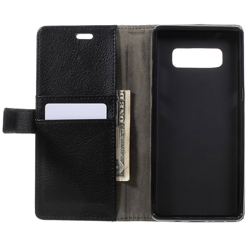 samsung protective standing cover negra para galaxy note 8