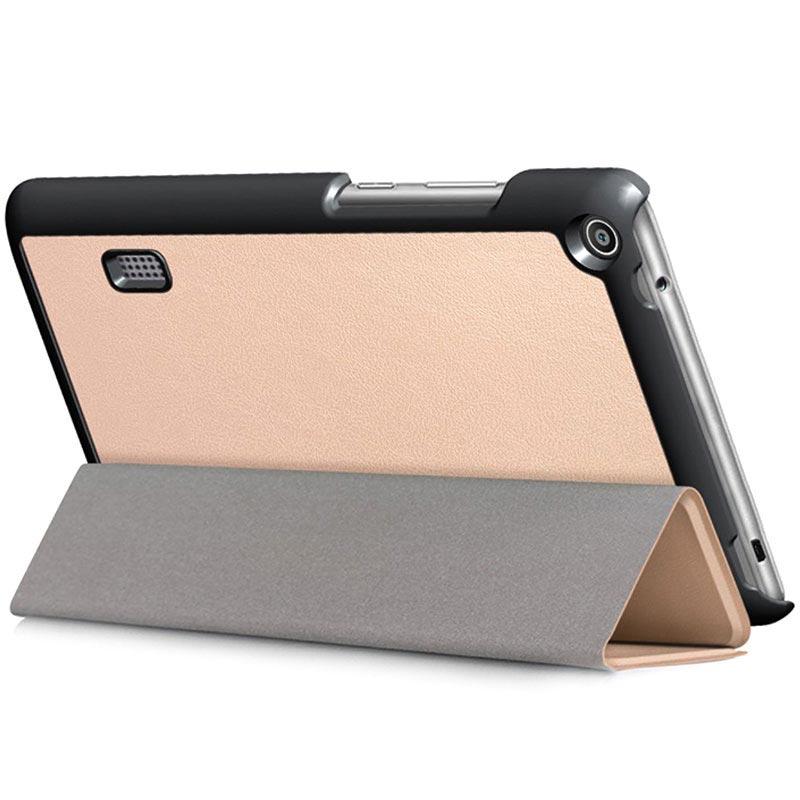 Funda Folio de Tres Pliegues para Huawei MediaPad T3 7.0 - Dorado