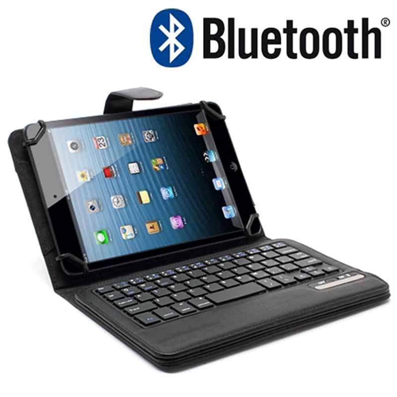 Funda de cuero teclado bluetooth universal para tablet - Funda teclado bluetooth ...