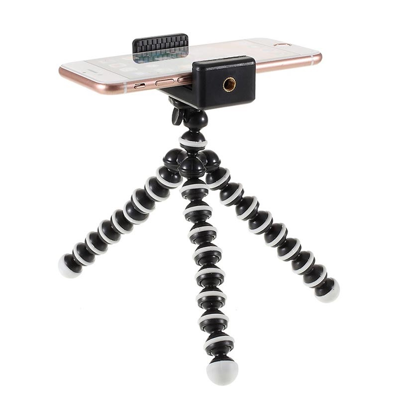 Universal Flexible Smartphone Tripod Stand - 60-85mm - Black