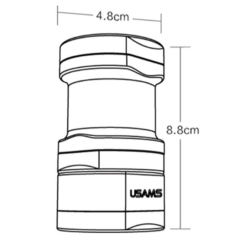 adaptador de enchufe universal usams us-cc003