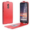 Nokia 3.2 Vertical Flip Case with Card Slot - Red
