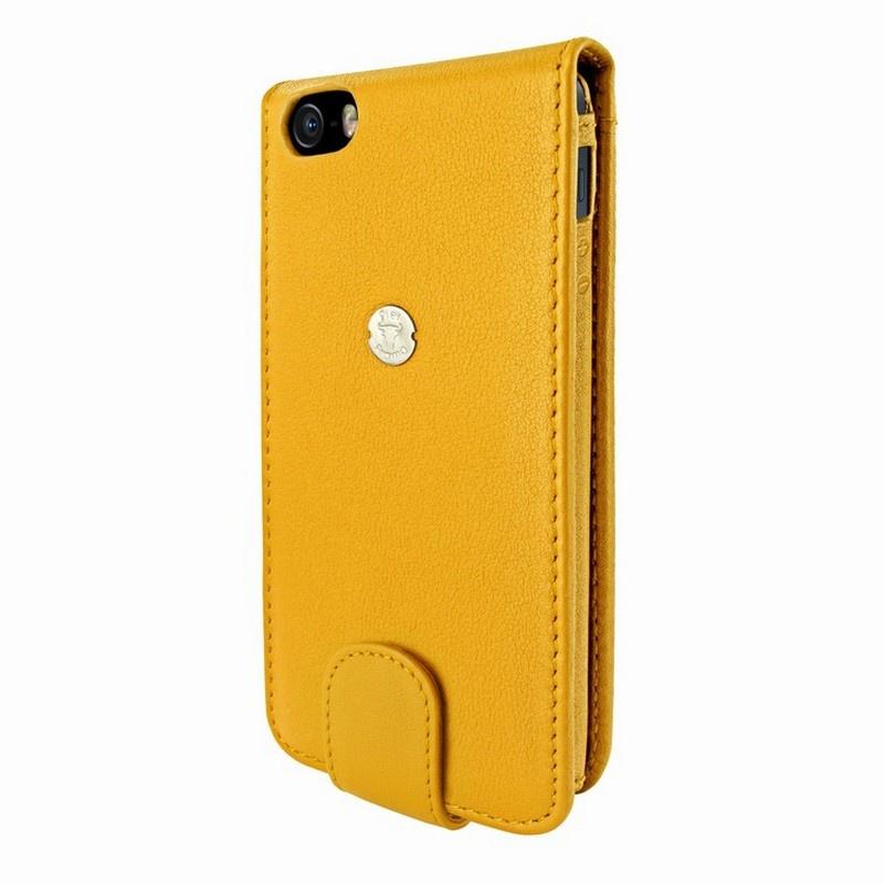 Piel frama funda de cuero con cierre de broche para iphone 5 5s se amarillo - Funda de piel para iphone 5 ...