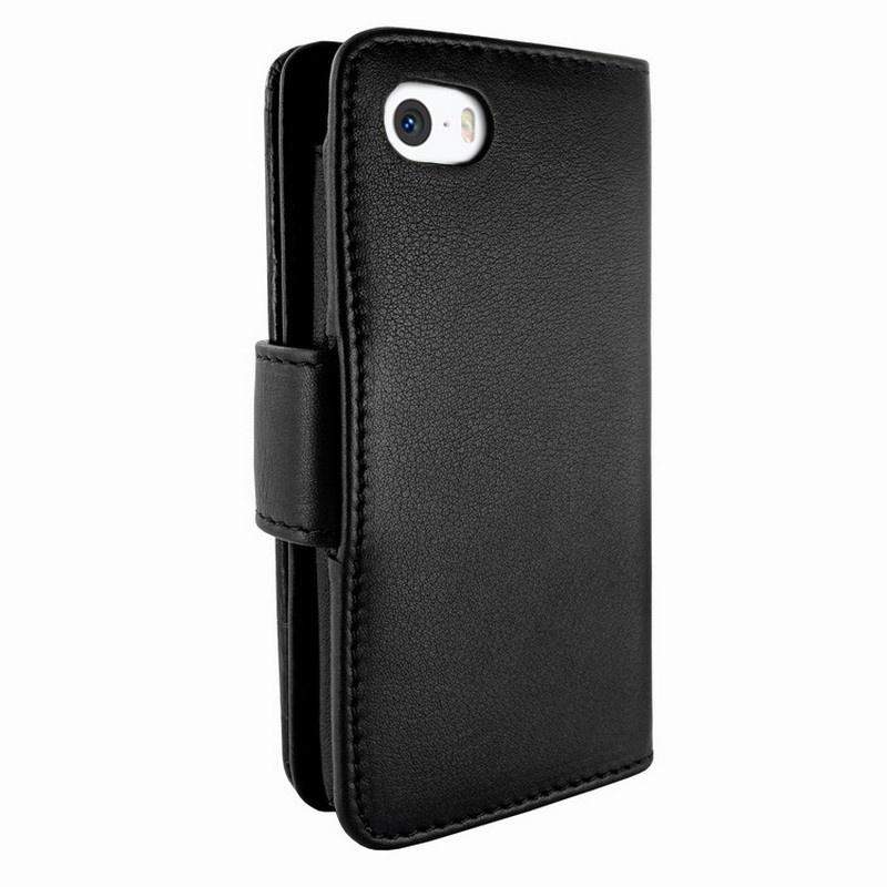 Piel frama swaro funda de cuero para iphone 5 5s se estilo cartera negro - Funda de piel para iphone 5 ...