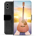 Funda Cartera Premium para iPhone X / iPhone XS - Guitarra