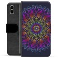 Funda Cartera Premium para iPhone X / iPhone XS - Mandala Colorida