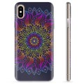 Funda de TPU para iPhone X / iPhone XS - Mandala Colorida