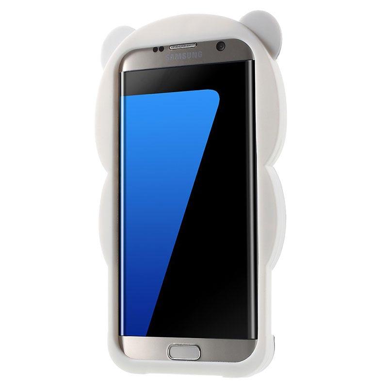 94cc25d096d Carcasa de Silicona 3D Panda para Samsung Galaxy S7 Edge - Negro/Blanco