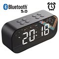 Altavoz Bluetooth con Despertador LED AEC BT501 - Negro