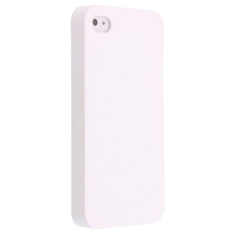 fc37023bfdd Carcasa Dura Recubierta Code para iPhone 4 / 4S - Blanco