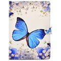Wonder Series Funda Folio para iPad 9.7 2017/2018 - Mariposa Azul