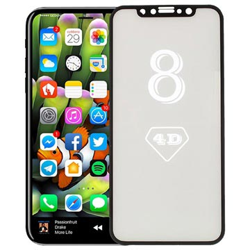 iPhone X/XS/11 Pro Full Size 4D Glass Screen Protector - Black