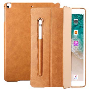 Funda Folio Inteligente JisonCase para iPad 9.7 2017/2018 - Marrón