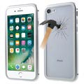 iPhone 7 / iPhone 8 Magnetic Case with Tempered Glass Back - Silver
