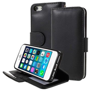 106b7c35824 Funda Cartera con Función de Soporte Premium para iPhone 5/5S/SE - Negro