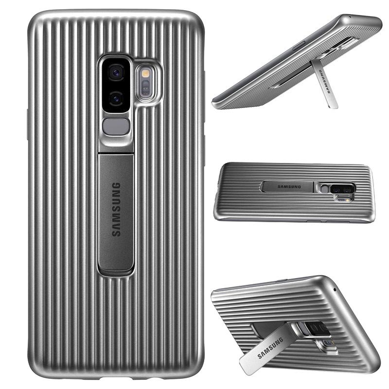 Carcasa Protective Standing Cover EF-RG965CSEGWW para Samsung Galaxy S9+ (S9 Plus) - Plateado